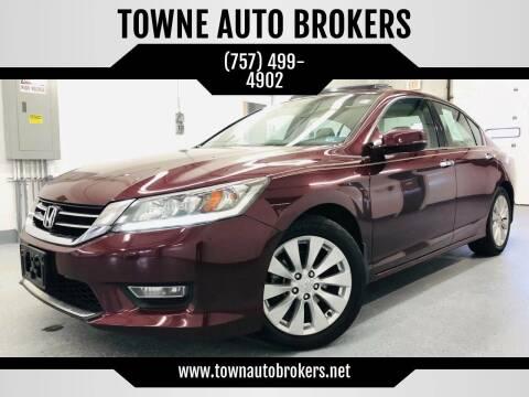 2013 Honda Accord for sale at TOWNE AUTO BROKERS in Virginia Beach VA