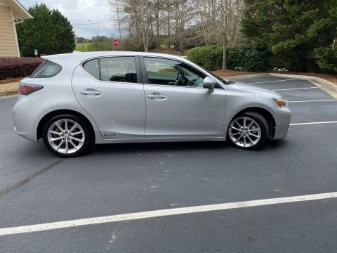 2012 Lexus CT 200h for sale at Paramount Autosport in Kennesaw GA
