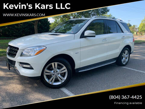 2012 Mercedes-Benz M-Class for sale at Kevin's Kars LLC in Richmond VA