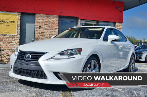 2014 Lexus IS 350 for sale at ALWAYSSOLD123 INC in North Miami Beach FL