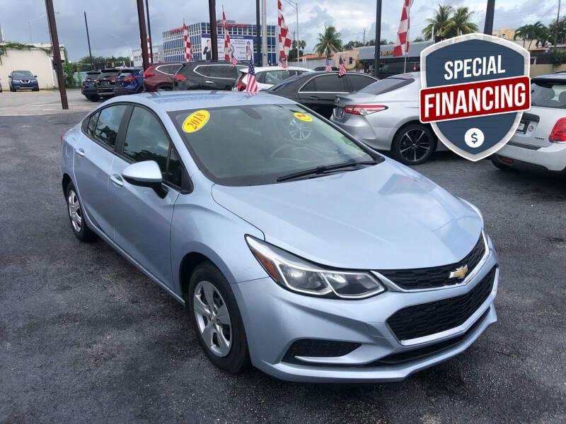 2018 Chevrolet Cruze for sale at MACHADO AUTO SALES in Miami FL