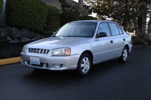 2001 Hyundai Accent for sale at SS MOTORS LLC in Edmonds WA
