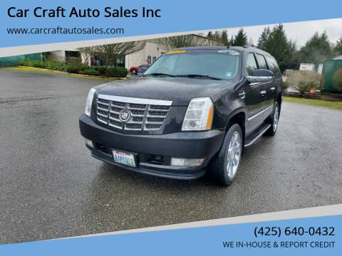 2008 Cadillac Escalade ESV for sale at Car Craft Auto Sales Inc in Lynnwood WA