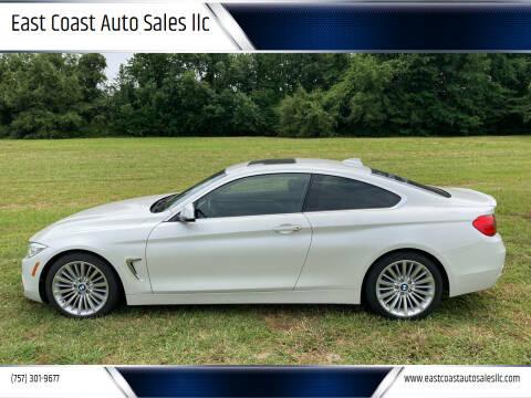 2015 BMW 4 Series for sale at East Coast Auto Sales llc in Virginia Beach VA