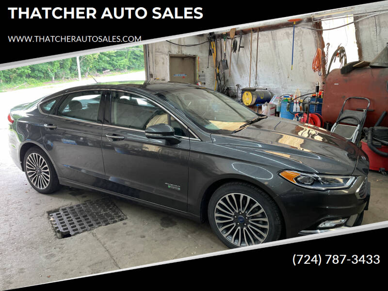 2018 Ford Fusion Energi for sale at THATCHER AUTO SALES in Export PA