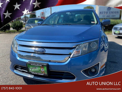 2010 Ford Fusion for sale at Auto Union LLC in Virginia Beach VA