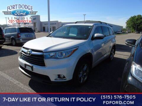 2015 Toyota Highlander for sale at Fort Dodge Ford Lincoln Toyota in Fort Dodge IA