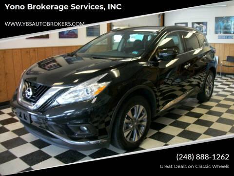 2017 Nissan Murano for sale at Yono Brokerage Services, INC in Farmington MI