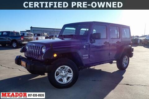 2017 Jeep Wrangler Unlimited for sale at Meador Dodge Chrysler Jeep RAM in Fort Worth TX