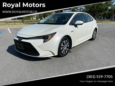 2020 Toyota Corolla Hybrid for sale at Royal Motors in Hyattsville MD