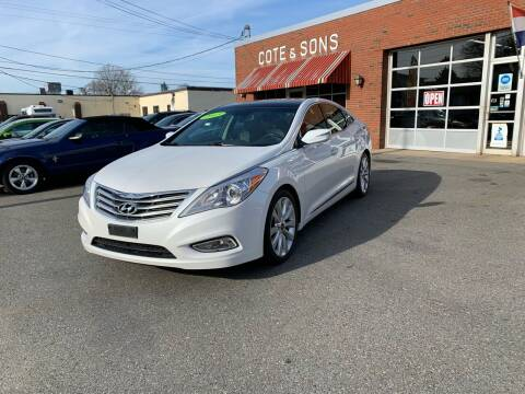 2013 Hyundai Azera for sale at Cote & Sons Automotive Ctr in Lawrence MA