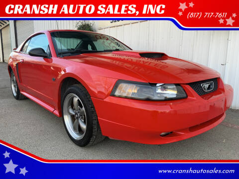2003 Ford Mustang for sale at CRANSH AUTO SALES, INC in Arlington TX
