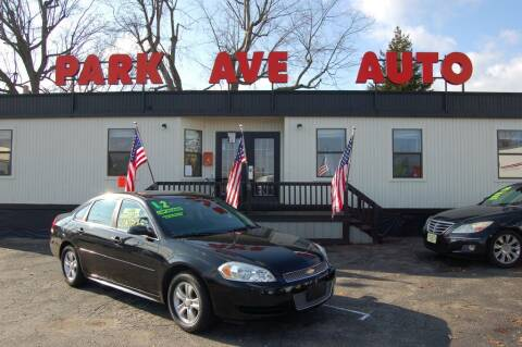 2012 Chevrolet Impala for sale at Park Ave Auto Inc. in Worcester MA