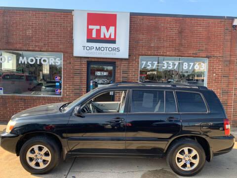 2004 Toyota Highlander for sale at Top Motors LLC in Portsmouth VA