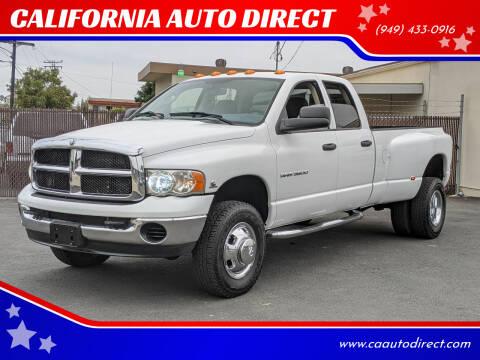 2003 Dodge Ram Pickup 3500 for sale at CALIFORNIA AUTO DIRECT in Costa Mesa CA