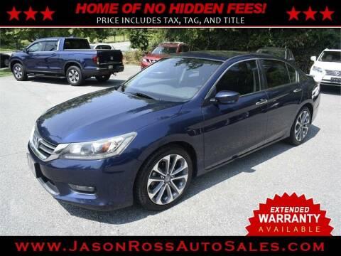 2015 Honda Accord for sale at Jason Ross Auto Sales in Burlington NC