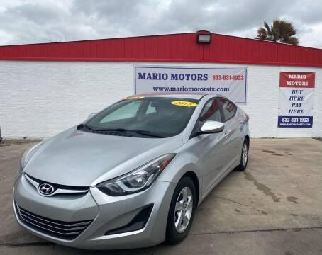 2015 Hyundai Elantra for sale at Mario Motors in South Houston TX