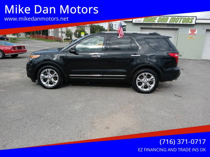 2014 Ford Explorer for sale at Mike Dan Motors in Niagara Falls NY