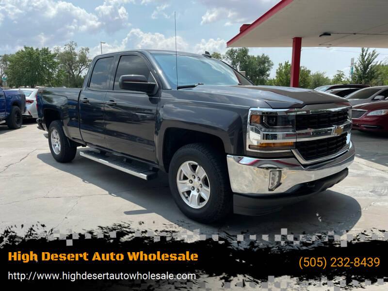 2016 Chevrolet Silverado 1500 for sale at High Desert Auto Wholesale in Albuquerque NM