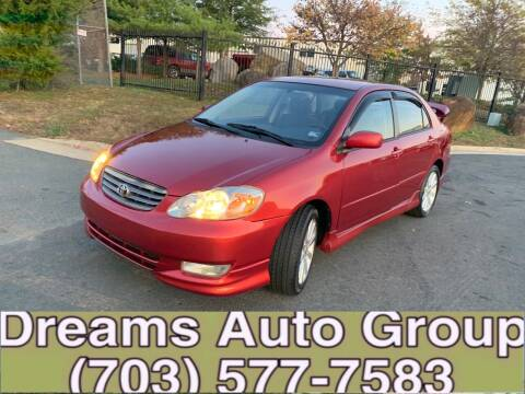 2004 Toyota Corolla for sale at Dreams Auto Group LLC in Sterling VA