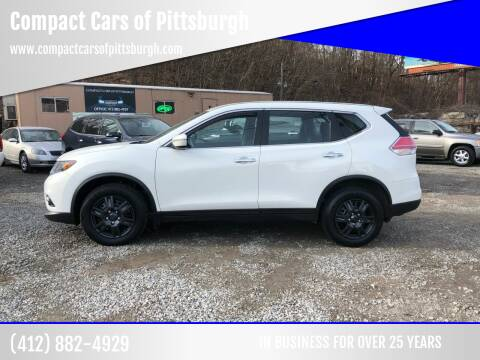 2014 Nissan Rogue for sale at Compact Cars of Pittsburgh in Pittsburgh PA