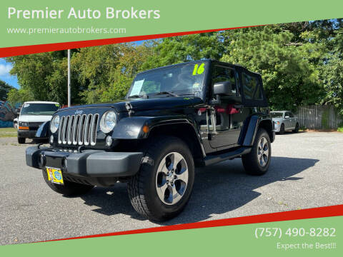 2016 Jeep Wrangler for sale at Premier Auto Brokers in Virginia Beach VA