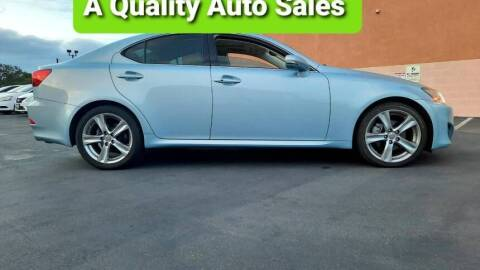 2013 Lexus IS 250 for sale at A Quality Auto Sales in Huntington Beach CA