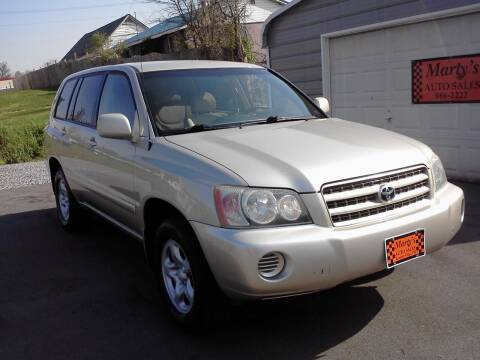 2002 Toyota Highlander for sale at Marty's Auto Sales in Lenoir City TN