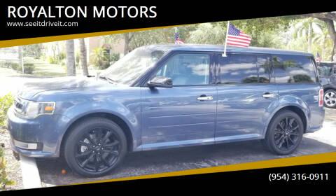 2018 Ford Flex for sale at ROYALTON MOTORS in Plantation FL