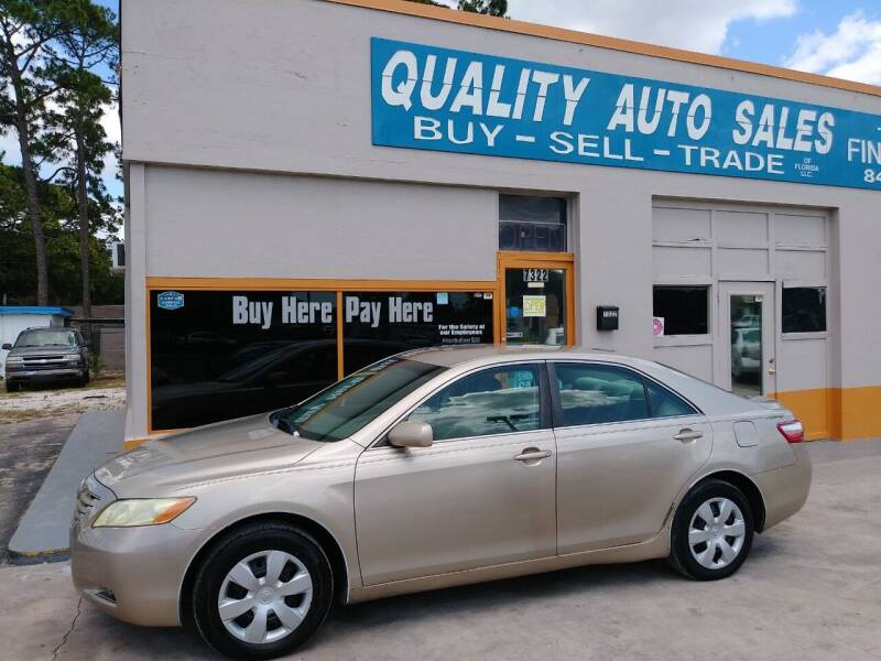 2008 Toyota Camry for sale at QUALITY AUTO SALES OF FLORIDA in New Port Richey FL