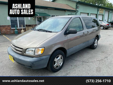1999 Toyota Sienna for sale at ASHLAND AUTO SALES in Columbia MO