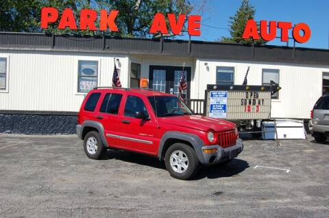 2003 Jeep Liberty for sale at Park Ave Auto Inc. in Worcester MA