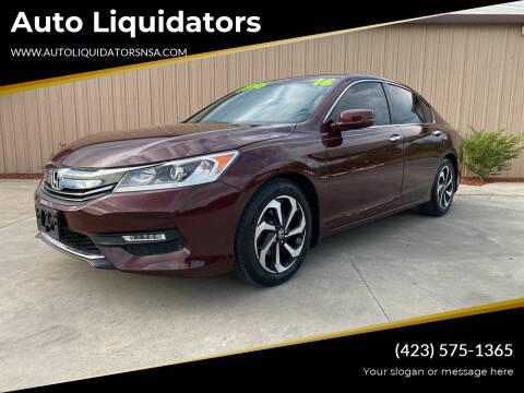 2016 Honda Accord for sale at Auto Liquidators in Bluff City TN