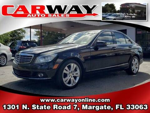 2010 Mercedes-Benz C-Class for sale at CARWAY Auto Sales in Margate FL