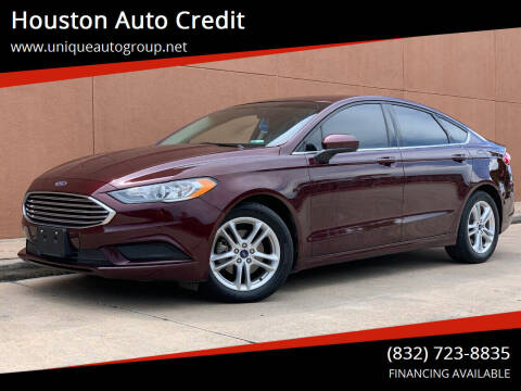 2018 Ford Fusion for sale at Houston Auto Credit in Houston TX