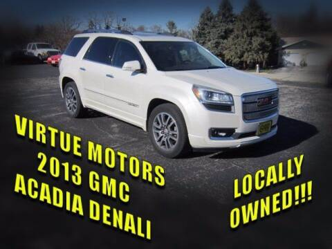 2013 GMC Acadia for sale at Virtue Motors Used in Darlington WI