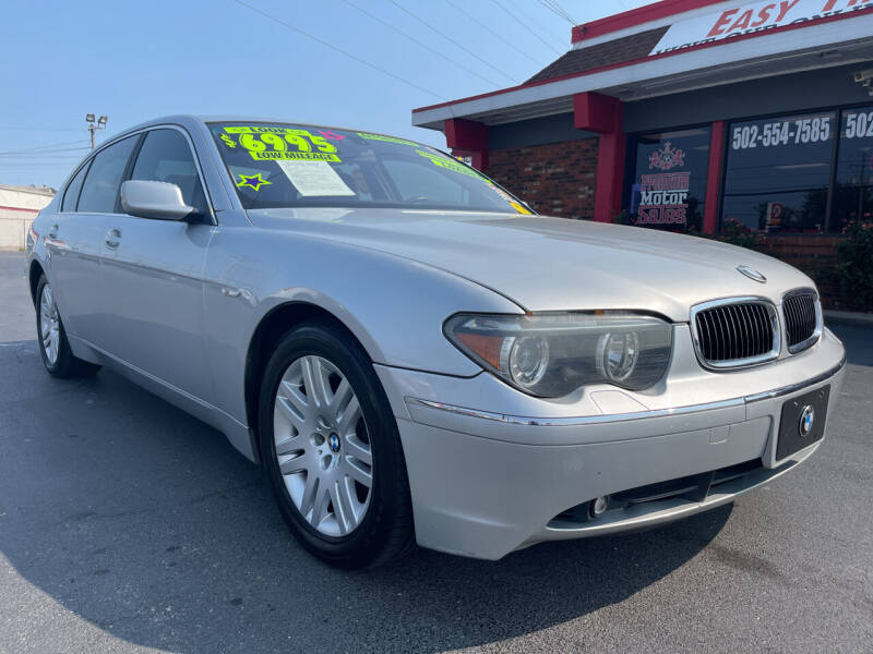 2002 BMW 7 Series for sale at Premium Motors in Louisville KY