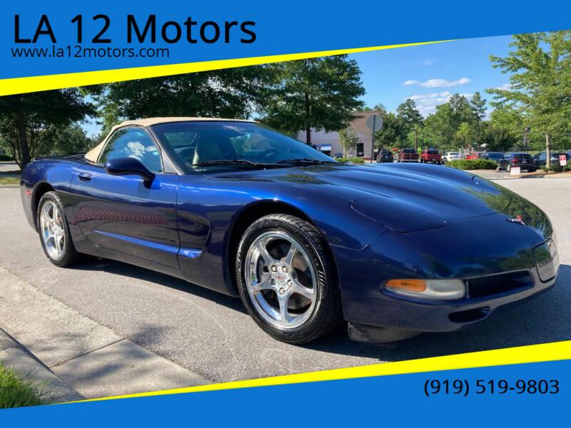 2000 Chevrolet Corvette for sale at LA 12 Motors in Durham NC