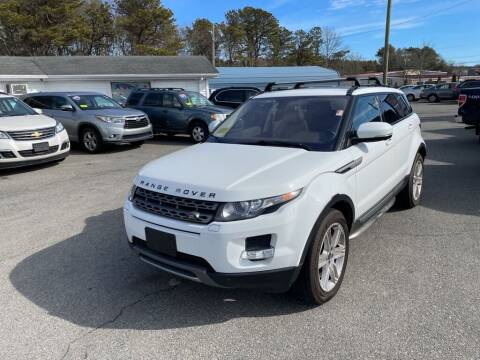 2013 Land Rover Range Rover Evoque for sale at U FIRST AUTO SALES LLC in East Wareham MA