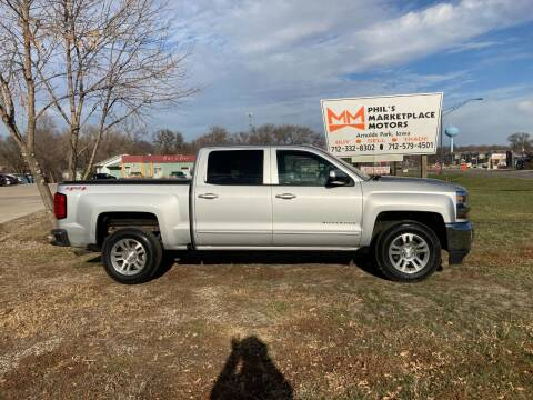2016 Chevrolet Silverado 1500 for sale at Phil's Marketplace Motors in Arnolds Park IA