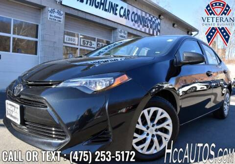 2018 Toyota Corolla for sale at The Highline Car Connection in Waterbury CT