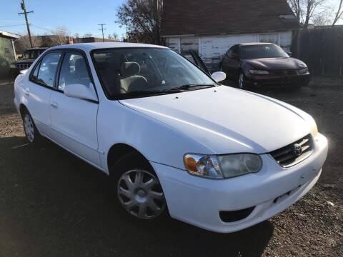 2002 Toyota Corolla for sale at 3-B Auto Sales in Aurora CO