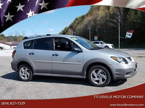 2004 Pontiac Vibe for sale at Titusville Motor Company in Titusville PA