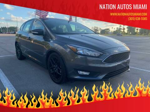 2016 Ford Focus for sale at Nation Autos Miami in Hialeah FL