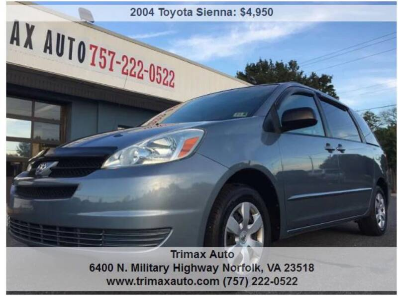 2004 Toyota Sienna for sale at Trimax Auto Group in Norfolk VA