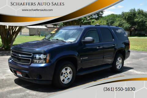 2009 Chevrolet Tahoe for sale at Schaefers Auto Sales in Victoria TX