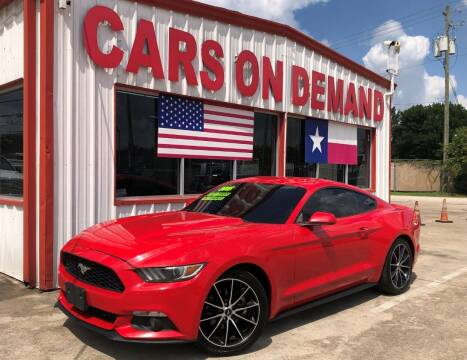2015 Ford Mustang for sale at Cars On Demand 2 in Pasadena TX