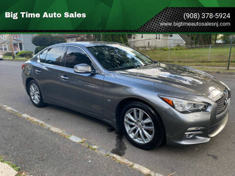 2015 Infiniti Q50 for sale at Big Time Auto Sales in Vauxhall NJ