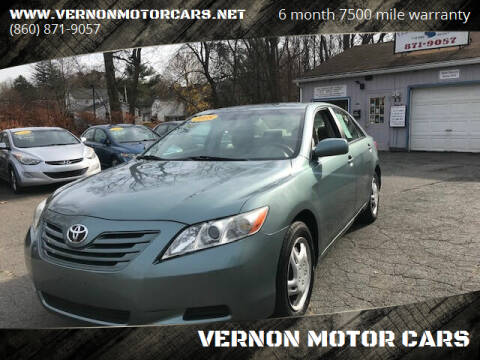2008 Toyota Camry for sale at VERNON MOTOR CARS in Vernon Rockville CT