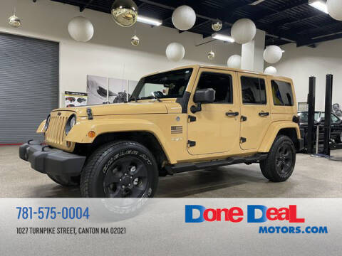 2013 Jeep Wrangler Unlimited for sale at DONE DEAL MOTORS in Canton MA